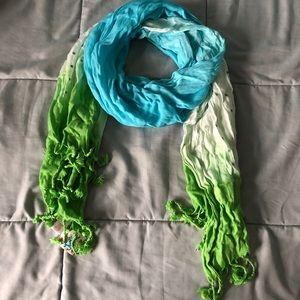 Justice Tie-Dye Fringe Scarf